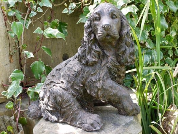 Springer Spaniel Dog Garden Ornament